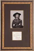 Autographs:Military Figures, George Armstrong Custer: A Beautifully Framed Signed Civil WarEndorsement. ...