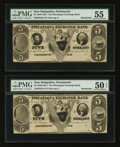 Obsoletes By State:New Hampshire, Portsmouth, NH- Piscataqua Exchange Bank $5 Remainders Two Examples.. ... (Total: 2 notes)