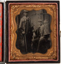 Photography:Tintypes, Sixth Plate Tintype: Campaign Marchers Torchbearers. ...