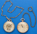 Timepieces:Pocket (post 1900), Two 12 Size Watches Elgin & Gruen . ... (Total: 2 Items)