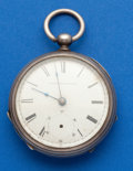 Timepieces:Pocket (post 1900), Elgin 18 Size, 7 Jewel Key Wind Coin Silver. ...