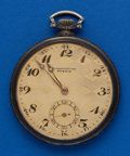 Timepieces:Pocket (post 1900), Swiss .800 Silver 49 mm, Fancy Dial. ...