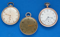 Timepieces:Pocket (post 1900), Three - Elgin 12 Size Pocket Watches. ... (Total: 3 Items)