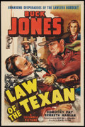 "Movie Posters:Western, Law of the Texan (Columbia, 1938). One Sheet (27"" X 41""). Western.. ..."