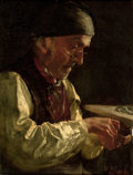 Paintings, WILLIAM ROBINSON LEIGH (American, 1866-1955). The Snuff Box, 1888. Oil on canvas. 14-1/2 x 11 inches (36.2 x 28.6 cm). S...