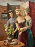 Texas:Early Texas Art - Regionalists, BROR ALEXANDER UTTER (American, 1913-1993). The Visitors,1943. Oil on canvas board. 24 x 17-3/4 inches (61.0 x 45.1 cm)...