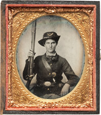 Civil War Sixth Plate Tintype of a Western Theater Federal Infantryman