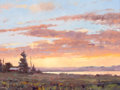 Western:20th Century, FROM THE COLLECTION OF SUSAN & ALLEN COLES. JIM WILCOX (American, b.1941). Wyoming Sunset, 1996. Oil on canvas. 12 x 1...