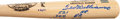 Baseball Collectibles:Bats, Ted Williams Signed Stat Bat - Extremely Rare Inscriptions!...