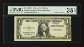Error Notes:Foldovers, Fr. 1614 $1 1935E Silver Certificate. PMG Choice Very Fine 35 EPQ.....