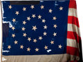 Military & Patriotic:Civil War, Gigantic Thirty-Four Star Civil War Era Flag. ...
