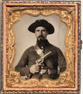 Military & Patriotic:Civil War, Sixth Plate Tintype of Western Theater Federal Infantryman....