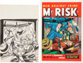 Original Comic Art:Miscellaneous, Warren Kremer Mr. Risk! #2 Cover Preliminary Sketch OriginalArt and Printer's Proof (Ace Magazines, 1950).... (Total: 2 Items)