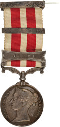 """Military & Patriotic:Foreign Wars, British Campaign Medal: Indian Mutiny Medal, with """"Delhi"""" Bar, 1857-1858...."""