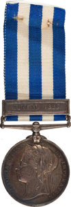 "Military & Patriotic:Foreign Wars, British Campaign Medal: Egypt Service Medal with ""Suakin 1885"" Bar, 1882-1889...."