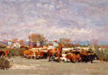 Western, XIANG ZHANG (Chinese/American, b.1954). Move for Greener Grass, 2010. Oil on linen. 25 x 36 inches (63.5 x 91.4 cm). Sig...