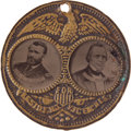 "Political:Ferrotypes / Photo Badges (pre-1896), Grant & Wilson: The Rare Large-Sized ""Porthole"" FerrotypeJugate. ..."