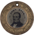 Political:Ferrotypes / Photo Badges (pre-1896), Bell & Everett: A Very Choice 1860 Campaign Ferrotype. ...