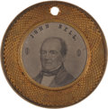 Political:Ferrotypes / Photo Badges (pre-1896), Bell & Everett: A Very Rare 1860 Ferrotype Frame....