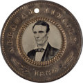 Political:Ferrotypes / Photo Badges (pre-1896), Lincoln & Hamlin: 1860 Back-to-Back Campaign Ferrotype....