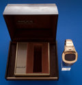 Timepieces:Wristwatch, Pulsar Time Computer Gold Filled Wristwatch With Box. ...