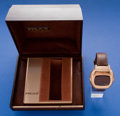 Timepieces:Wristwatch, Pulsar 14k Gold, Time Computer With Original Box. ...