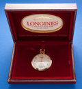Timepieces:Pocket (post 1900), Longines 12 Size, 14k Gold, 17 Jewel With Box & Papers. ...