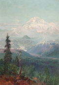 Western, SYDNEY M. LAURENCE (American, 1865-1940). Mt. McKinley. Oil on artist's board. 14 x 9-3/4 inches (35.6 x 24.8 cm). Signe...