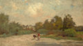 Texas:Early Texas Art - Impressionists, ROBERT JENKINS ONDERDONK (American, 1853-1917). Untitled(Road). Oil on artist's board. 6-1/2 x 12 inches (16.5 x 30.5c...