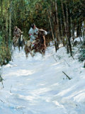 Western:Cowboy Artists, FROM THE COLLECTION OF SUSAN & ALLEN COLES. HOWARD A. TERPNING (American, b.1927). A Winter Trail, 1975. Oil on canvas...