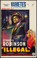 "Movie Posters:Crime, Illegal (Warner Brothers, 1955). Belgian (14"" X 21.5""). Crime.. ..."
