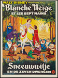 "Movie Posters:Animation, Snow White and the Seven Dwarfs (Walt Disney, R-1970s). Belgian Posters (2) (14"" X 18.5""). Animation.. ... (Total: 2 Items)"