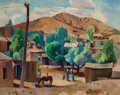 Paintings, WILLARD NASH (American, 1893-1943). Santa Fe Vista. Oil on canvas. 24 x 30 inches (61.0 x 76.2 cm). Signed lower left: ...