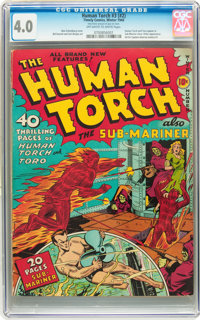 The Human Torch #3 (#2) (Timely, 1940) CGC VG 4.0 Off-white to white pages