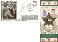 Baseball Collectibles:Others, Kirby Puckett Signed Ticket and First Day Cover Lot of 2....
