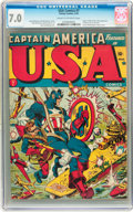 Golden Age (1938-1955):Superhero, USA Comics #7 (Timely, 1943) CGC FN/VF 7.0 Cream to off-white pages....
