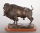 BOB SCRIVER (American, 1914-1999) Herd Bull, 1959 Bronze 21 inches (53.3 cm) high Signed and dated on base: Bob Sc