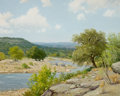 Texas, PORFIRIO SALINAS (American, 1910-1973). Rio Frio, 1965. Oilon canvas. 25 x 30 inches (63.5 x 76.2 cm). Signed and dated...