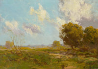 JULIAN ONDERDONK (American, 1882-1922) Late Afternoon, 1909 Oil on wood panel 6 x 8-1/2 inches (