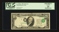 Error Notes:Shifted Third Printing, Fr. 2025-C $10 1981 Federal Reserve Note. PCGS Apparent Very Fine 25.. ...