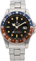 Timepieces:Wristwatch, Rolex Ref. 1675 Steel GMT-Master, circa 1965. ...