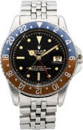 Timepieces:Wristwatch, Rolex Ref. 1675 Steel GMT-Master With Pointed Crown Guard, circa1950's. ...