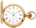 Timepieces:Pocket (pre 1900) , P.H. Mathey Exceptional Gold Minute Repeating Pocket Watch, circa 1890's. ...