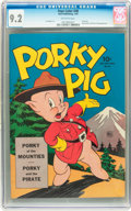 Golden Age (1938-1955):Cartoon Character, Four Color #48 Porky Pig (Dell, 1944) CGC NM- 9.2 Off-white pages....