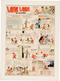 Original Comic Art:Comic Strip Art, Martin Branner Winnie Winkle Hand-Colored Sunday Original Art (Chicago Tribune, 1924)....