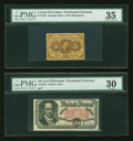 Fractional Currency:Fifth Issue, First and Fifth Issue Fractionals.. ... (Total: 2 notes)