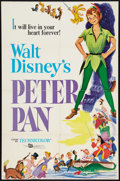 "Movie Posters:Animated, Peter Pan (Buena Vista , R-1976). One Sheet (26.75"" X 41""), TitleCard & Lobby Cards (6) (11"" X 14""). Animated.. ... (Total: 8Items)"