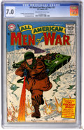 Golden Age (1938-1955):War, All-American Men of War #21 (DC, 1955) CGC FN/VF 7.0 Cream tooff-white pages....