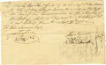 "Autographs:Statesmen, Founding Father Oliver Ellsworth 1775 Document Signed ""OlvrEllsworth"" as a member of the Connecticut Committee of the P..."