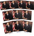 """Autographs:U.S. Presidents, Ten Gerald Ford Signed Color Photographs, 8"""" x 8.5"""". The nation'samiable 38th President has boldly autographed the lower ma...(Total: 102 Item)"""